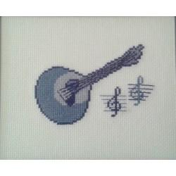 Guitarra azul sem moldura