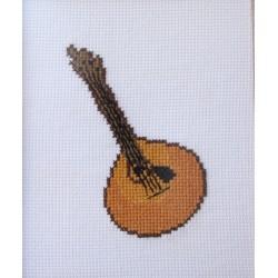 Guitarra castanha sem moldura