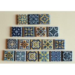 Imanes com azulejos